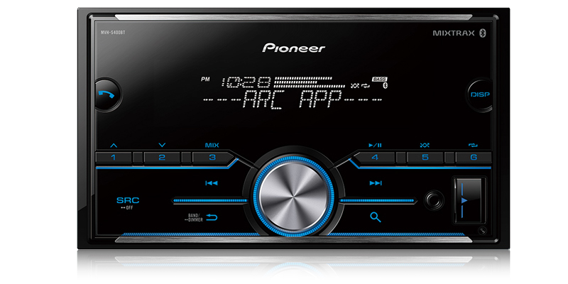MVH-S400BT - Double DIN Digital Media Receiver with Improved Pioneer
