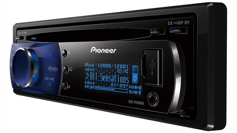 DEH-P4200UB - CD Receiver with OEL Display, USB Direct Control of