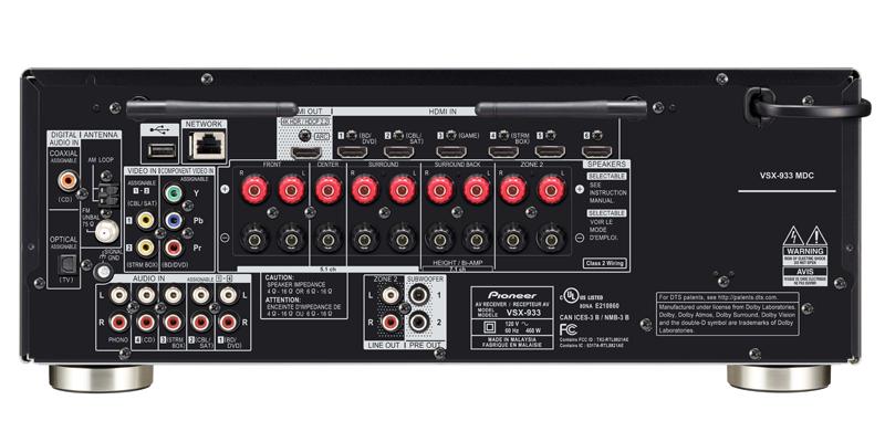 VSX-933 - 72-ch Network AV Receiver Pioneer Electronics USA