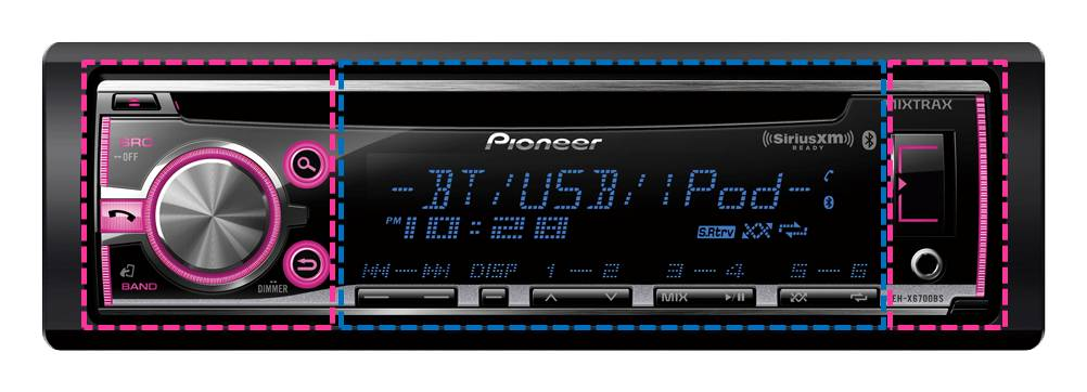 DEH-X3700S - CD Receiver with MIXTRAX®, SiriusXM-Ready™, USB