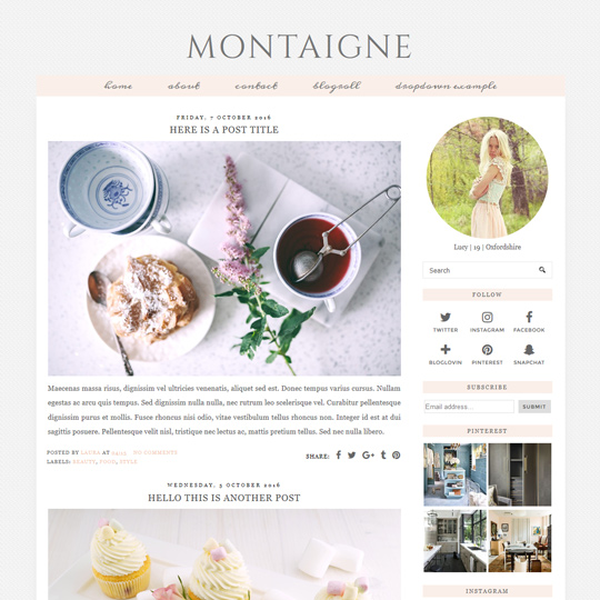 Grid Layout Blogger Template Blogspot Grid Theme pipdig