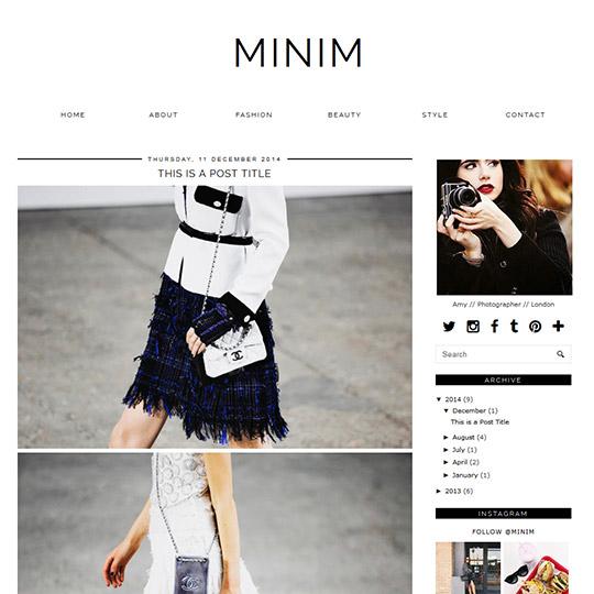 Minimal Blogger Template Responsive Design Infinite