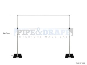 2 UP KIT HALF HEIGHT 6-10ft PIPE AND DRAPE WITH MEASURE
