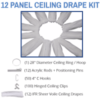 Wedding Ceiling Draping Kit | Sheer Swags In 17 Colors