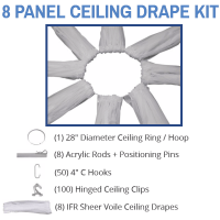 40 Foot Long Ceiling Swags + Hanging Hardware | Ceiling Kit