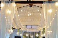 30 Foot Long Ceiling Drape | 4 Beautiful Sheer Fabric Panels