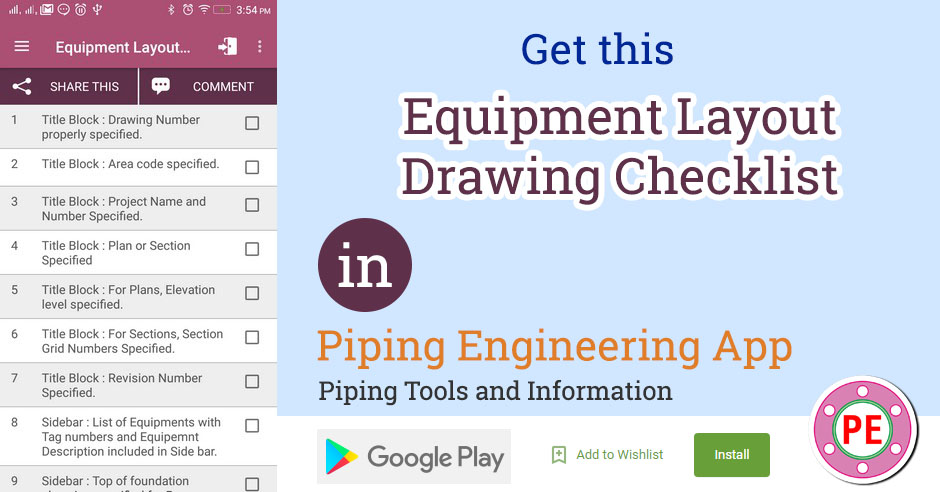 Checklist  Equipment Layout Checking » The Piping Engineering World