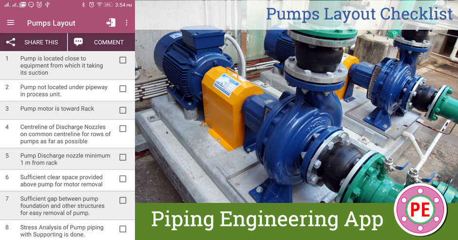 Checklist  Pumps Layout » The Piping Engineering World