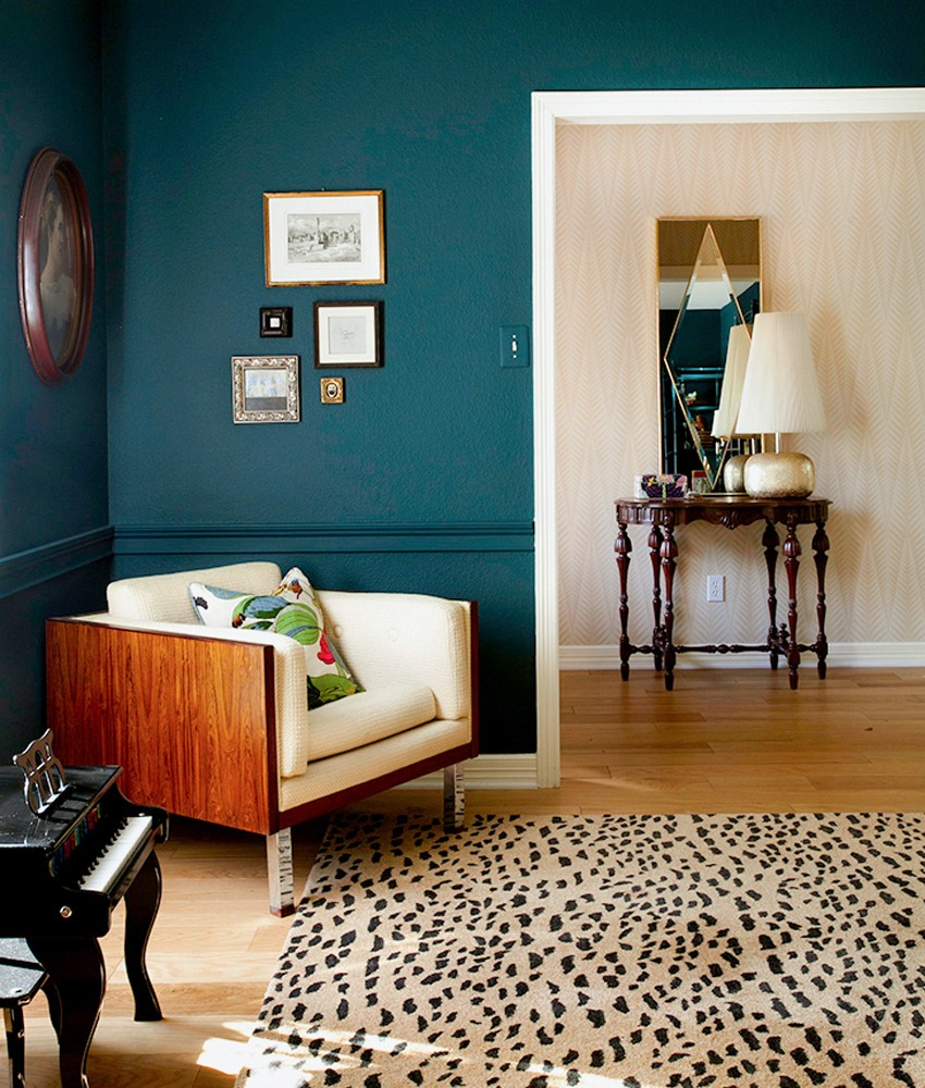 Erim Williamson Designs. Leopard skin and animal prints, showing interior trends for 2017. Pippa Jameson Interiors