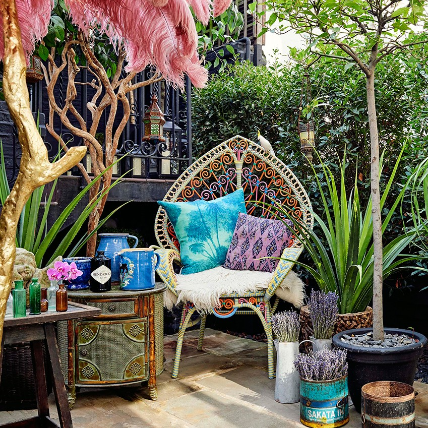 Trend watch: All that Glistens and Fluro Folk. Folk and gypsy interiors by Mathew Williamson and  Rebecca Louise Law Check