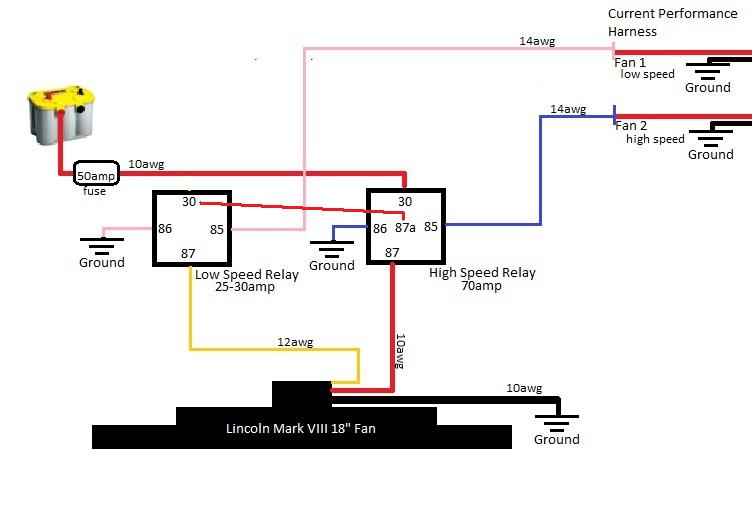 cooling fan relay wiring diagram for lsx stock ls fan on temp