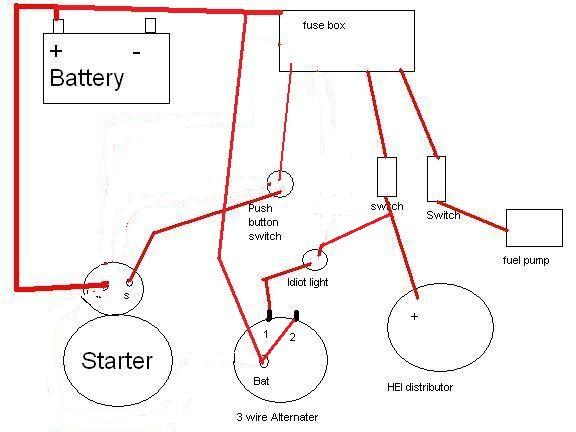 Chevy Starter Ignition Wiring Diagram Electronic Schematics