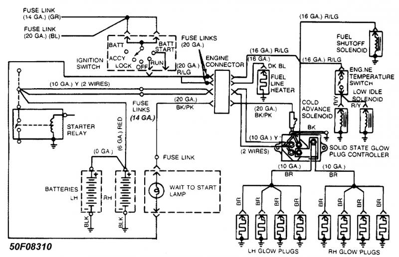 1990 ford f350 diesel wiring diagram