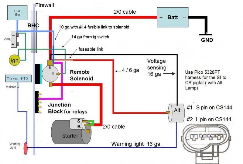 System Wiring Diagram 2002 Gmc Sonoma On 3 Wire Delco Alternator