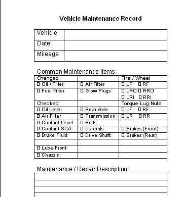 Vehicle Maintenance Log - Pirate4x4Com  4x4 and Off-Road Forum