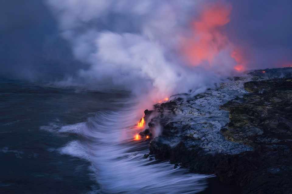 Photographing Lava in Hawaii