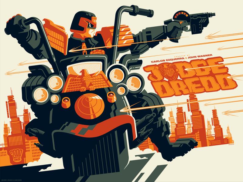 Vice Press Reveal New Judge Dredd Prints by Tom Whalen and Matt Ferguson