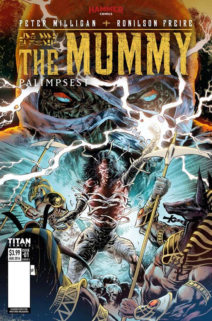Sneak Peek at Hammer and Titan Comic's The Mummy #1