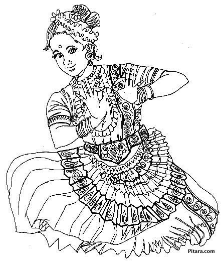 Taj Mahal Wallpaper Girl Hand Dancing Styles Coloring Pages Pitara Kids Network