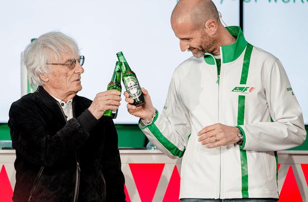 Bernie Ecclestone F1 Sponsor Heineken