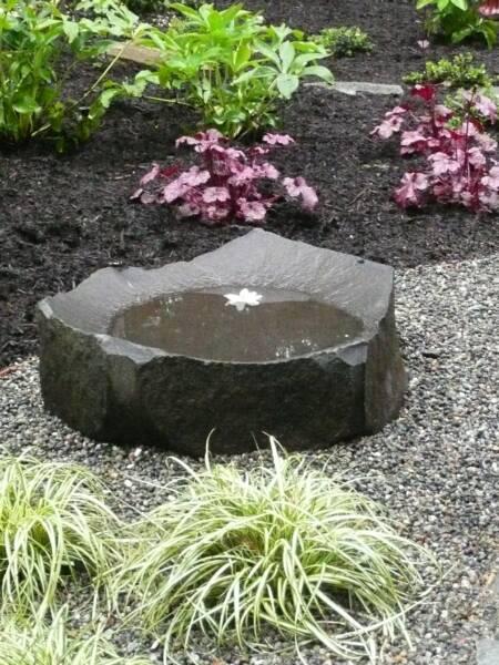 garden stone bird bath