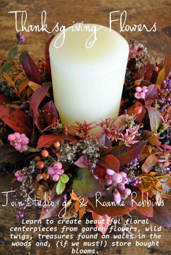 Thanksgiving Flower arranging class flyer