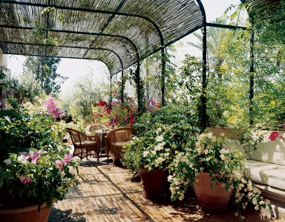 marella agnelli garden by madison cox in marrakech covered patio