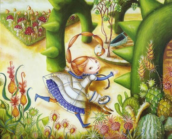 princess amanita in her garden dashka slater
