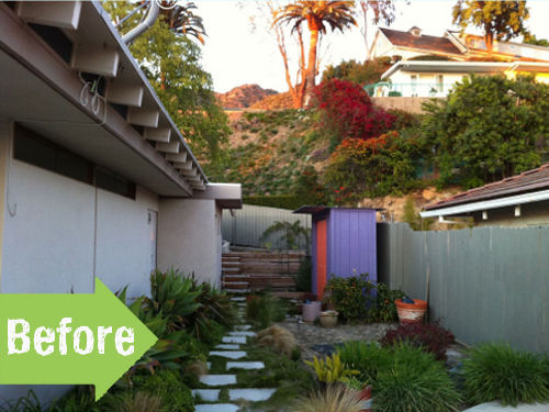 side yard, before, bright, los angeles, shephard's alley, remake,