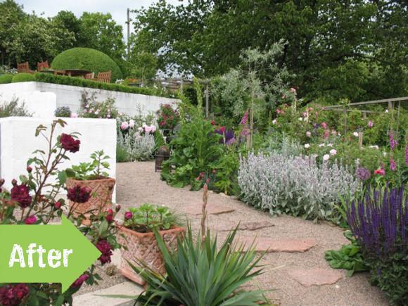 Swedish terraced garden