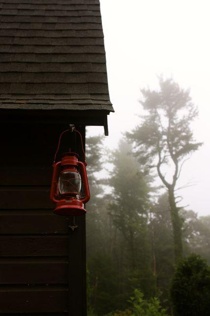 red lantern on barn at www.pithandvigor.com