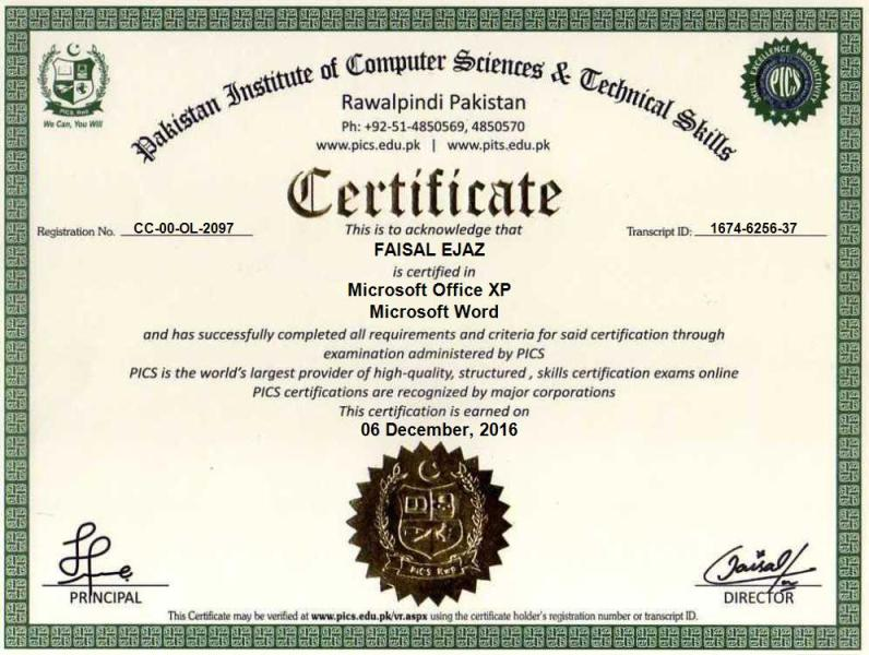 microsoft office certification free