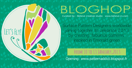 Let's Fly | A Colossal Surface Pattern Design Blog Hop