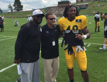 John Calipari Visits Bud Dupree at Steelers Camp