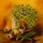 160 - vaso con prezzemolo e aglio 50 x 60