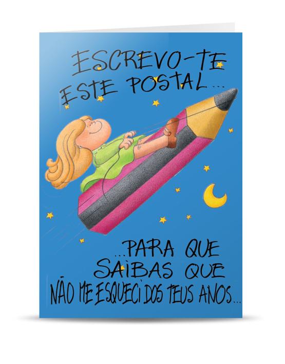 Postal Aniversário Lápis PIUI Postais Greeting Cards
