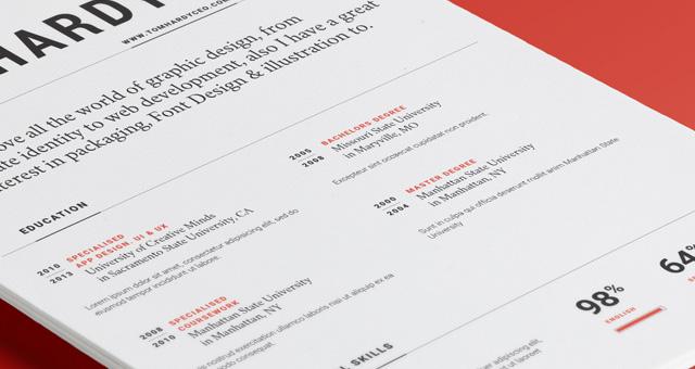 Simple Resume Template vol12 Resumes Templates Pixeden - simple resume template