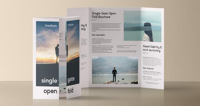 Psd Single Gate Fold Mockup Vol 2 Psd Mock Up Templates Pixeden - gate fold brochure mockup