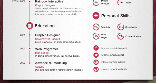 samples of vector graphics resumes