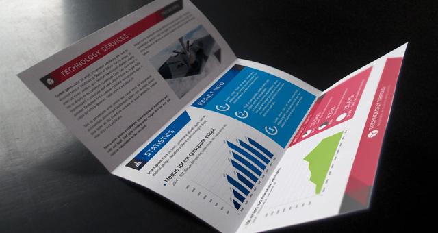 Technology Tri Fold Brochure Brochure Templates Pixeden