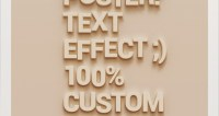 Psd Wall Poster Text Effect   Photoshop Text Effects   Pixeden