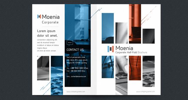 Moenia Bi Fold Brochure Template Brochure Templates Pixeden