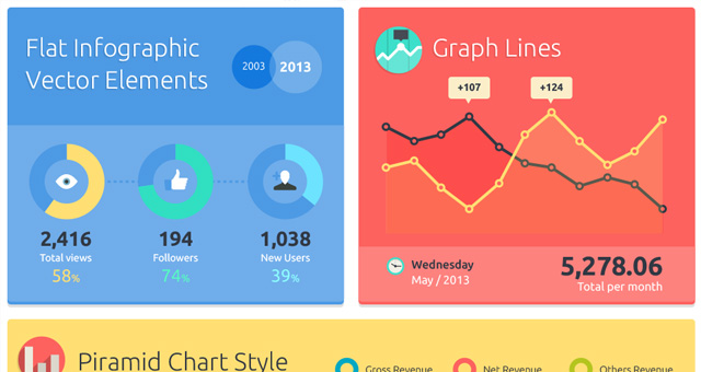 001-flat-infographic-chart-graph-statistics-vector-kit-pack-set - graphs and charts templates