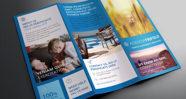 Agentia Tri Fold Brochure Template Brochure Templates Pixeden - Tri Fold Brochures Free