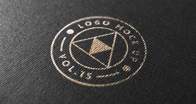 Gold Print Logo Mock-Up Template Psd Mock Up Templates Pixeden