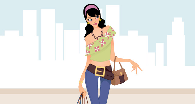Fashion Shopping Girls Vector Art Vector Illustrations Pixeden
