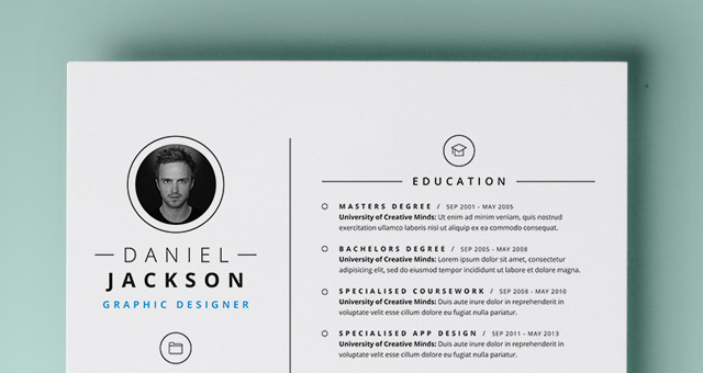 Simple Resume Template vol4 Resumes Templates Pixeden - Free Graphic Design Resume Templates