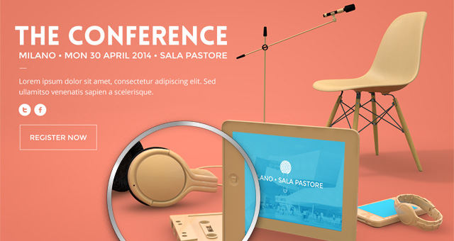 Psd Conference Website Template Psd Web Templates Pixeden - conference brochure template