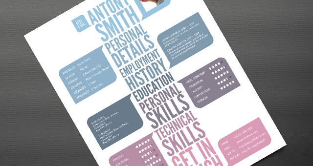 creative cv layout