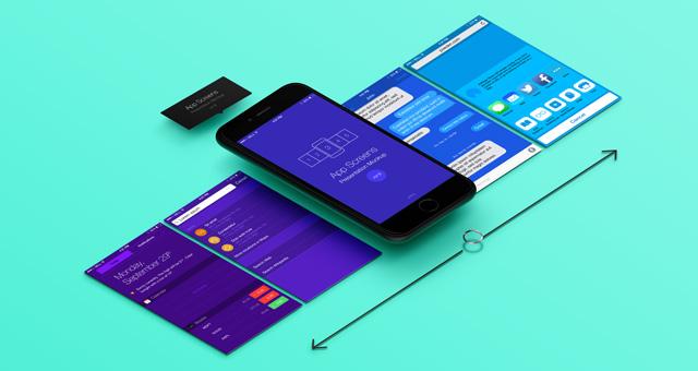 Perspective App Screens Mock-Up 8 Psd Mock Up Templates Pixeden